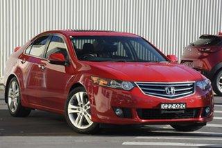 2011 Honda Accord Euro CU MY12 Luxury Red 5 Speed Automatic Sedan.