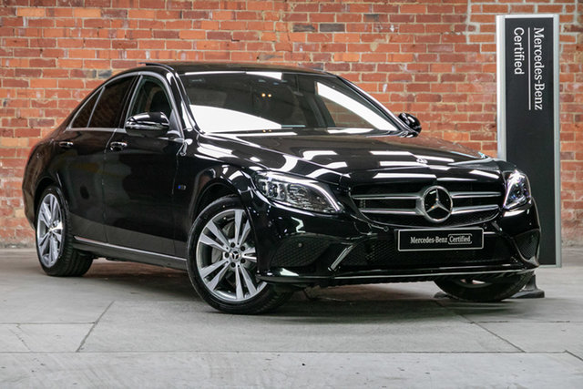 Certified Pre-Owned Mercedes-Benz C-Class W205 800MY C300 9G-Tronic e Mulgrave, 2019 Mercedes-Benz C-Class W205 800MY C300 9G-Tronic e Obsidian Black Metallic 9 Speed