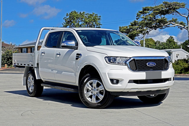 Used Ford Ranger PX MkIII 2021.25MY XLT Double Cab Springwood, 2020 Ford Ranger PX MkIII 2021.25MY XLT Double Cab White 6 Speed Sports Automatic Double Cab Chassis