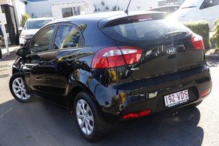 2013 Kia Rio UB MY13 S Black 6 Speed Manual Hatchback.