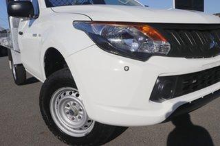 2016 Mitsubishi Triton MQ MY17 GLX 4x2 White Solid 5 Speed Sports Automatic Cab Chassis.