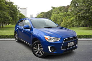 2015 Mitsubishi ASX XB MY15 LS 2WD Blue 6 Speed Constant Variable Wagon.