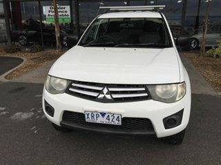 2010 Mitsubishi Triton MN MY10 GLX (4x4) White 4 Speed Automatic 4x4 Double Cab Utility.