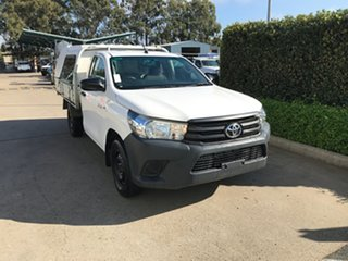2017 Toyota Hilux TGN121R Workmate 4x2 Glacier 6 speed Automatic Cab Chassis.