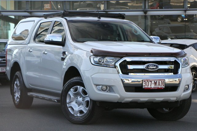 Pre-Owned Ford Ranger PX MkII XLT Double Cab Upper Mount Gravatt, 2015 Ford Ranger PX MkII XLT Double Cab White 6 Speed Manual Utility