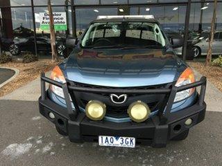 2013 Mazda BT-50 MY13 XT (4x4) Blue 6 Speed Manual Dual Cab Utility.