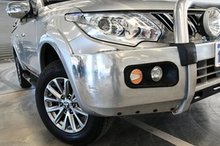 2016 Mitsubishi Triton MQ MY16 GLS (4x4) Silver 5 Speed Automatic Dual Cab Utility.