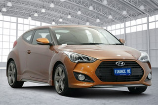 2012 Hyundai Veloster FS2 SR Coupe Turbo Orange 6 Speed Sports Automatic Hatchback.