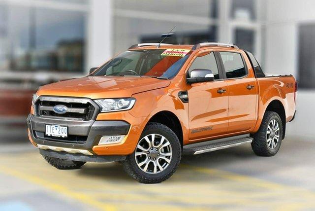 Used Ford Ranger PX MkII 2018.00MY Wildtrak Double Cab Berwick, 2018 Ford Ranger PX MkII 2018.00MY Wildtrak Double Cab Orange 6 Speed Manual Utility