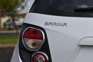 2012 Holden Barina TM White 5 Speed Manual Hatchback