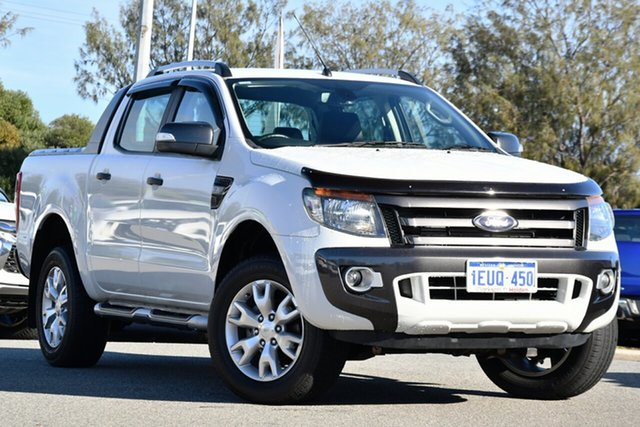 Used Ford Ranger PX Wildtrak Double Cab Clarkson, 2015 Ford Ranger PX Wildtrak Double Cab White 6 Speed Sports Automatic Utility