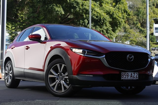 Demo Mazda CX-30 DM2WLA G25 SKYACTIV-Drive Touring Newstead, 2020 Mazda CX-30 DM2WLA G25 SKYACTIV-Drive Touring Soul Red Crystal 6 Speed Sports Automatic Wagon