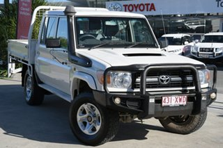 2013 Toyota Landcruiser VDJ79R MY13 Workmate Double Cab French Vanilla 5 Speed Manual Cab Chassis.