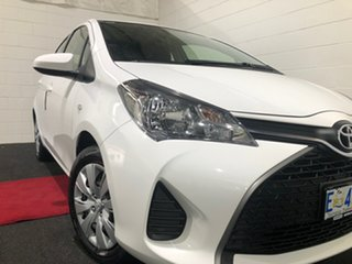 2015 Toyota Yaris NCP130R Ascent White 5 Speed Manual Hatchback.