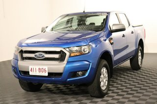 2017 Ford Ranger PX MkII XLS Double Cab Blue 6 speed Automatic Utility.