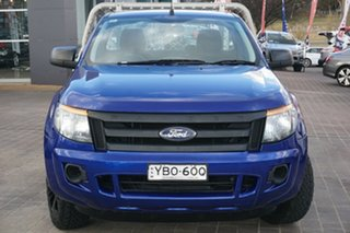 2013 Ford Ranger PX XL Blue 5 Speed Manual Cab Chassis.