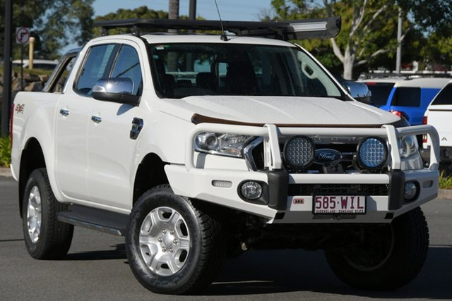 Used Ford Ranger PX MkII XLT Double Cab North Lakes, 2016 Ford Ranger PX MkII XLT Double Cab White 6 Speed Manual Utility