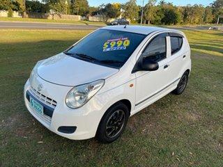 2010 Suzuki Alto GF GL White 5 Speed Manual Hatchback.