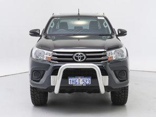 2017 Toyota Hilux GUN126R MY17 SR (4x4) Black 6 Speed Manual Dual Cab Chassis.