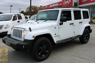 2018 Jeep Wrangler JK MY18 Unlimited Overland White 5 Speed Automatic Hardtop.