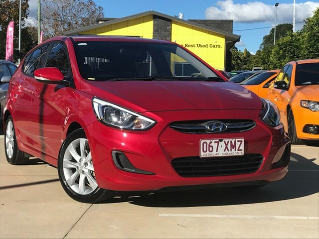 Used Hyundai Accent RB6 MY18 Sport Toowoomba, 2017 Hyundai Accent RB6 MY18 Sport Red 6 Speed Sports Automatic Hatchback