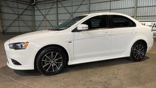 2015 Mitsubishi Lancer CJ MY15 ES Sport White 5 Speed Manual Sedan.