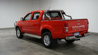 2012 Toyota Hilux KUN26R MY12 SR5 Double Cab Red 4 Speed Automatic Utility.