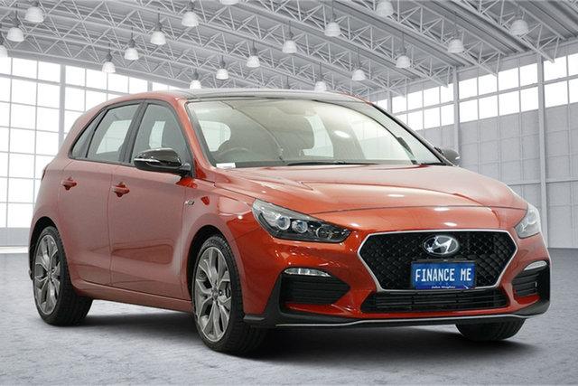 Used Hyundai i30 PD.3 MY19 N Line D-CT Premium Victoria Park, 2019 Hyundai i30 PD.3 MY19 N Line D-CT Premium Lava Orange 7 Speed Sports Automatic Dual Clutch
