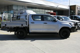 2017 Toyota Hilux GUN126R SR Double Cab Silver 6 Speed Sports Automatic Cab Chassis.