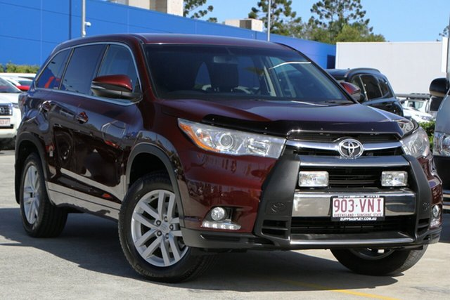 Used Toyota Kluger GSU50R GX 2WD Aspley, 2015 Toyota Kluger GSU50R GX 2WD Maroon 6 Speed Sports Automatic Wagon