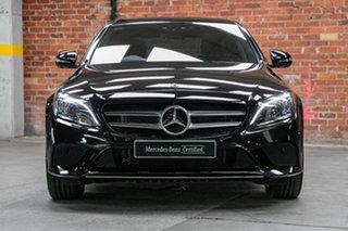 2019 Mercedes-Benz C-Class W205 800MY C300 9G-Tronic e Obsidian Black Metallic 9 Speed.