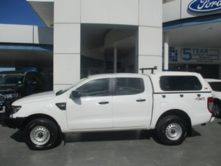 2015 Ford Ranger PX XL 3.2 (4x4) White 6 Speed Automatic Double Cab Pick Up.