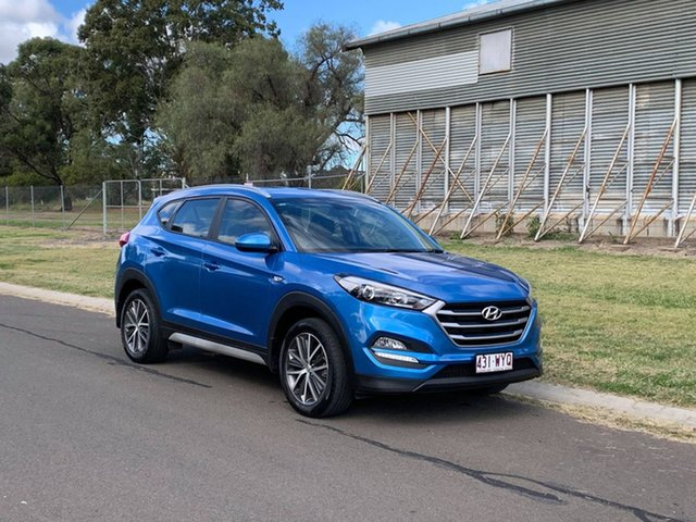 Pre-Owned Hyundai Tucson TL Active X (FWD) Oakey, 2017 Hyundai Tucson TL Active X (FWD) Blue 6 Speed Automatic Wagon