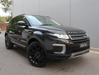 2016 Land Rover Range Rover Evoque L538 MY16.5 Pure Black 9 Speed Sports Automatic Wagon.