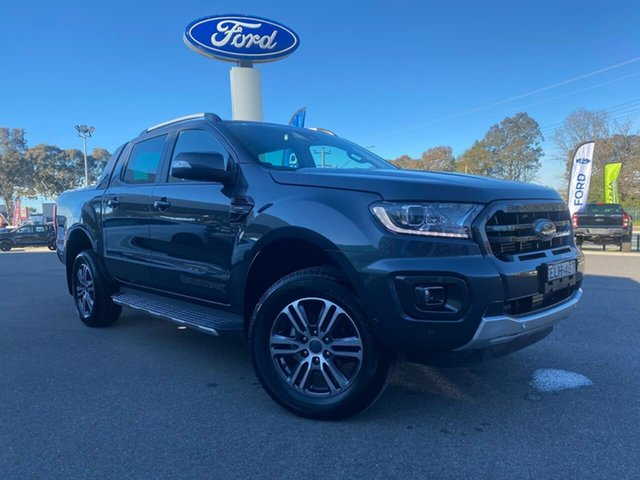Used Ford Ranger Wildtrak Goulburn, 2020 Ford Ranger Wildtrak Meteor Grey Sports Automatic Double Cab Pick Up