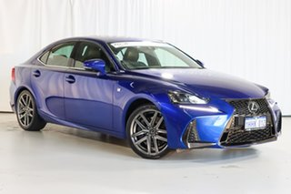2017 Lexus IS GSE31R IS350 F Sport Blue 8 Speed Sports Automatic Sedan.