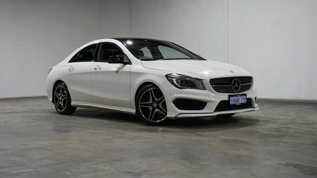 Used Mercedes-Benz CLA-Class C117 806MY CLA200 DCT Welshpool, 2016 Mercedes-Benz CLA-Class C117 806MY CLA200 DCT Cirrus White 7 Speed Sports Automatic Dual Clutch