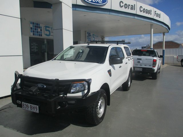 Used Ford Ranger PX XL 3.2 (4x4) Bundaberg, 2015 Ford Ranger PX XL 3.2 (4x4) White 6 Speed Automatic Double Cab Pick Up