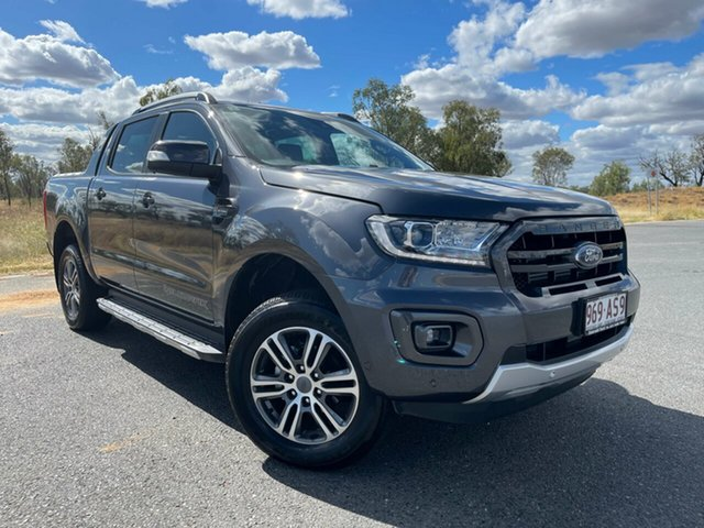 Used Ford Ranger PX MkIII 2021.25MY Wildtrak Emerald, 2020 Ford Ranger PX MkIII 2021.25MY Wildtrak Meteor Grey 10 Speed Sports Automatic