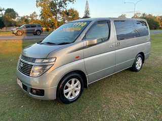 2002 Nissan Elgrand ALE50 Highway Star Silver 4 Speed Automatic Wagon.