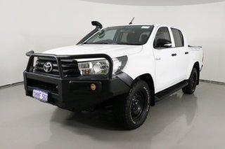 2016 Toyota Hilux GUN125R Workmate (4x4) White 6 Speed Manual Dual Cab Utility.
