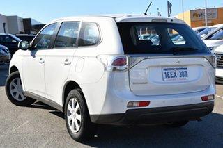 2013 Mitsubishi Outlander ZJ MY13 ES 2WD White 6 Speed Constant Variable Wagon.