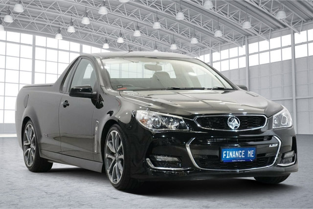 Used Holden Ute VF II MY16 SS Ute Victoria Park, 2016 Holden Ute VF II MY16 SS Ute Black 6 Speed Manual Utility