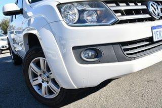 2014 Volkswagen Amarok 2H MY14 TDI420 4Motion Perm Trendline White 8 Speed Automatic Utility.