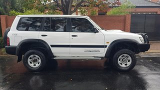 2001 Nissan Patrol GU II ST (4x4) White 4 Speed Automatic 4x4 Wagon.