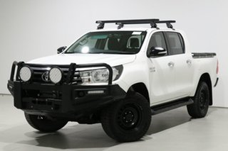 2017 Toyota Hilux GUN126R MY17 SR (4x4) White 6 Speed Manual Dual Cab Utility.