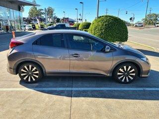 2014 Honda Civic 9th Gen MY14 VTi-L Brown 5 Speed Sports Automatic Hatchback.