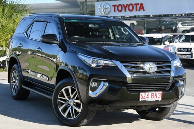 Pre-Owned Toyota Fortuner GUN156R Crusade North Lakes, 2019 Toyota Fortuner GUN156R Crusade Eclipse Black 6 Speed Automatic Wagon