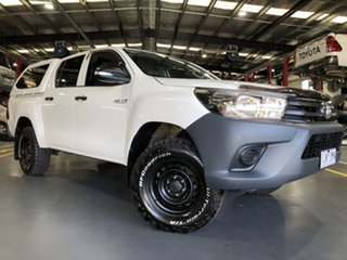 2016 Toyota Hilux GUN125R Workmate Double Cab Glacier White 6 Speed Sports Automatic Utility.