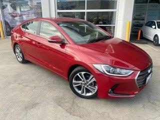 2017 Hyundai Elantra AD MY18 Elite Fiery Red 6 Speed Sports Automatic Sedan.